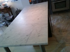 Process Of Marble Countertop Refinishing