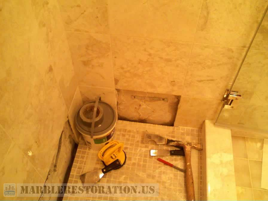 Anchoring the Shower Tiles Installation