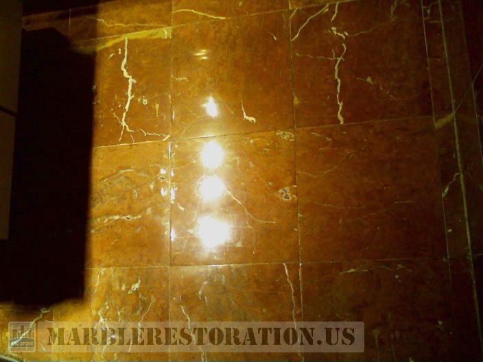 Bathroom Floor Polished. Image. Marble Restoration & Stone Care