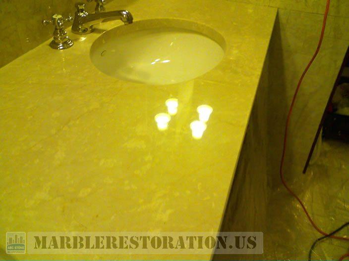 Bathroom Vanity After Refinishing