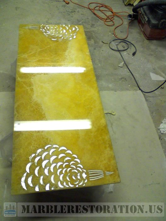 Fixed Indian Onyx Coffee Table
