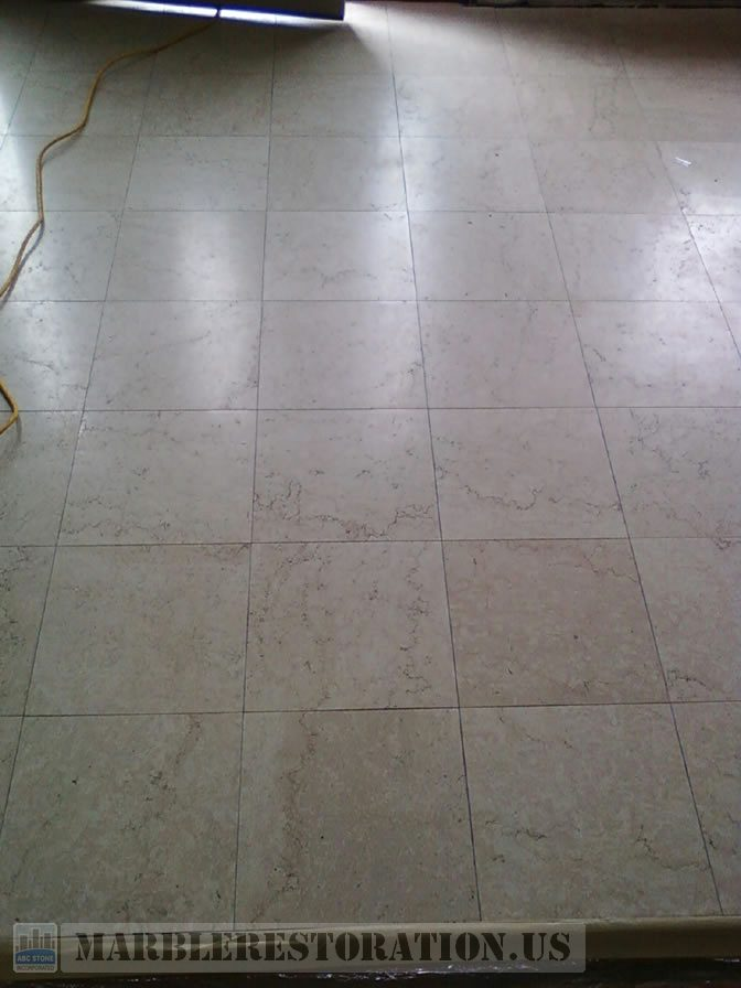 Foyer Marble Floor Cleaning and Polishing