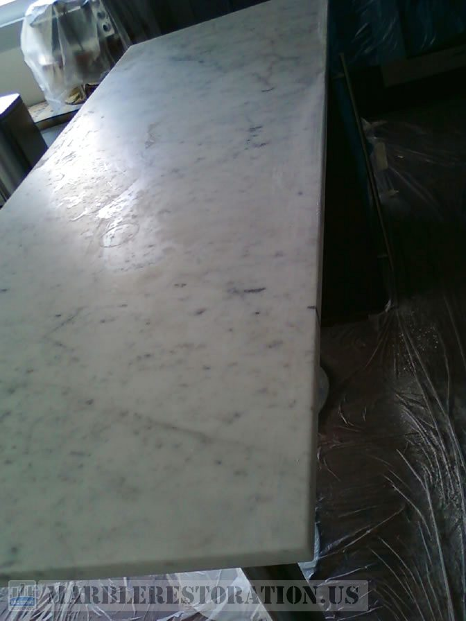 Etched Countertop Before. Stone Repair Picture