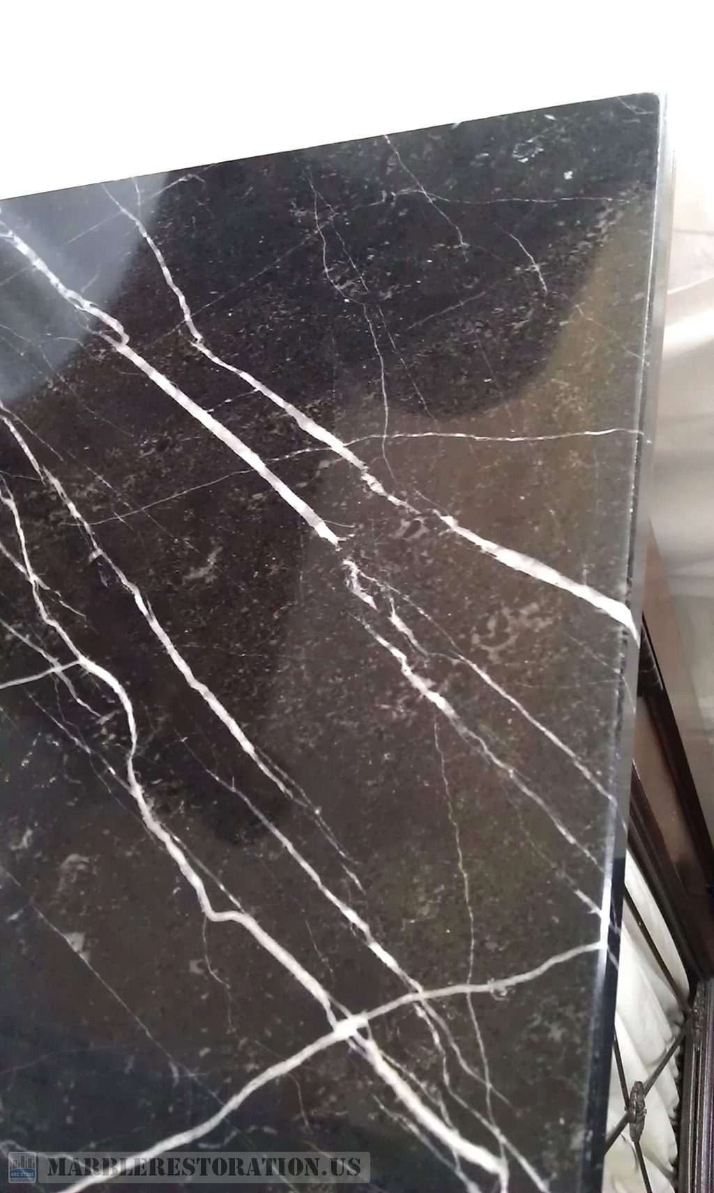Etches On Bedside Marble Table Top