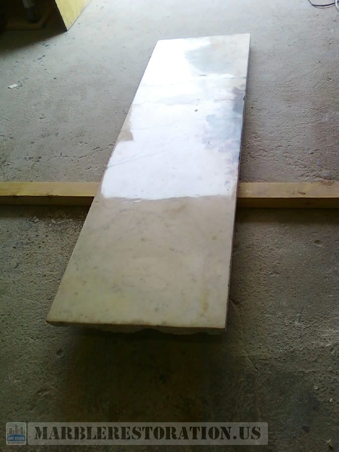 Fixed Floor Slab of Marble Fireplace
