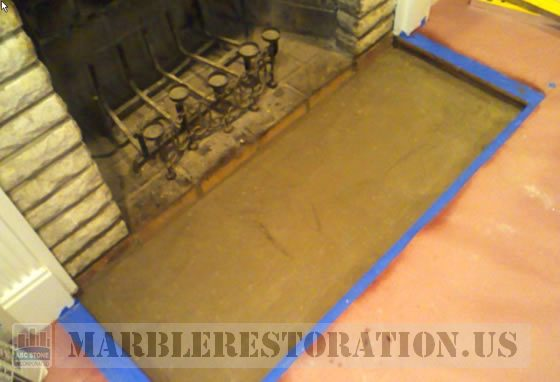 Fireplace Floor Slab Installation