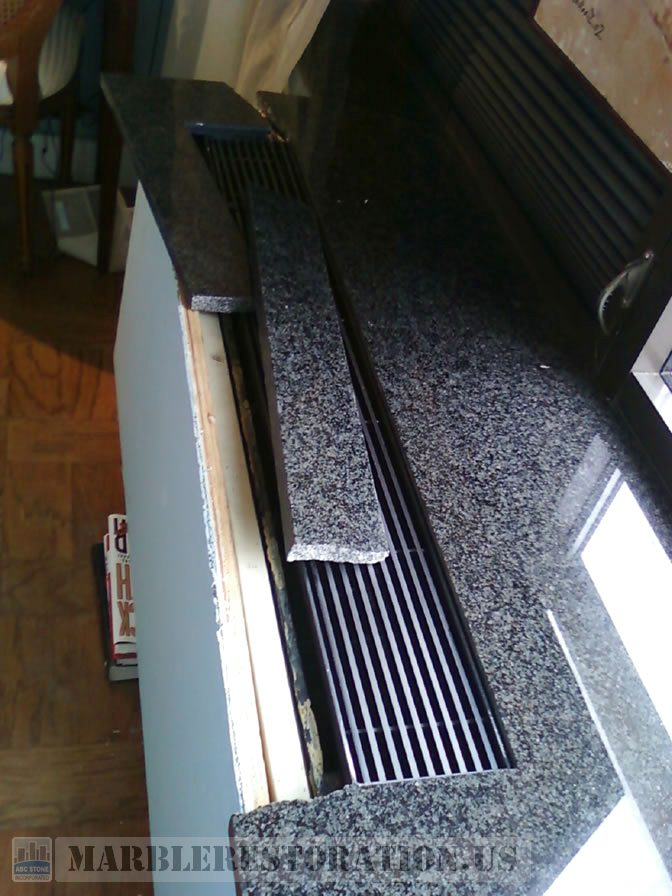 Radiator Granite Top Slab. Broken Parts