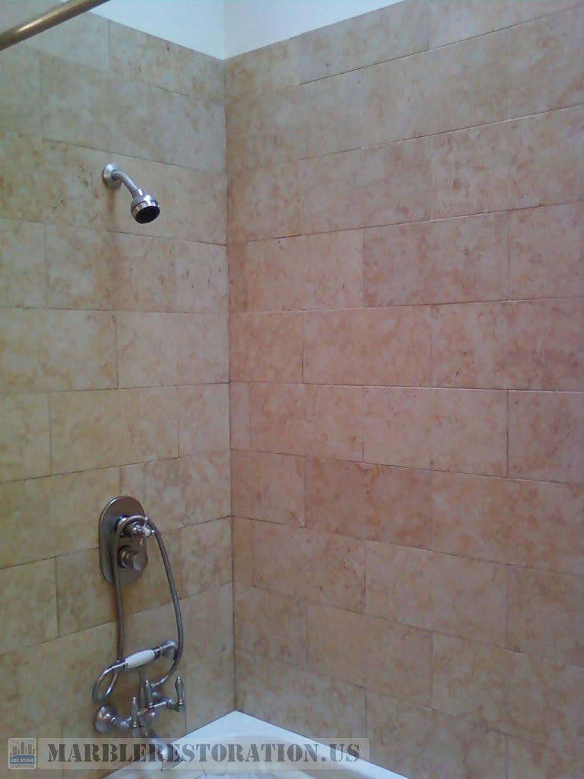 Jerusalem Stone Shower. After Color Enhancement