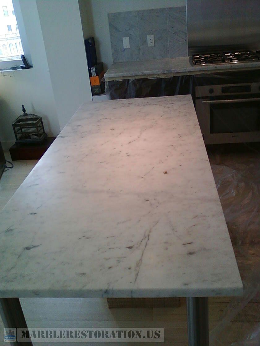 Kitchen Countertop. Before Restoration