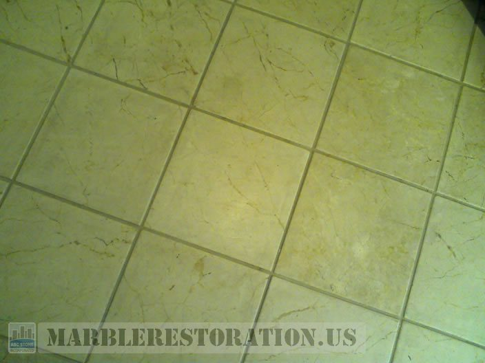 Kitchen Marble Tiles Before Cleaning