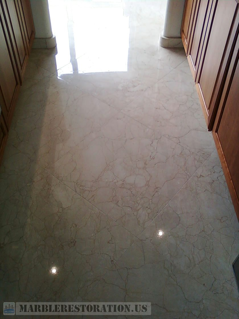 Kitchen Marble Floor After Restoration