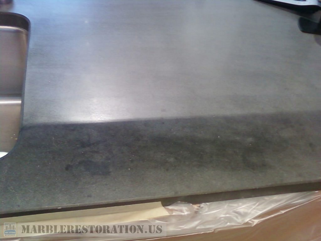 Stained Limestone Brown Counter