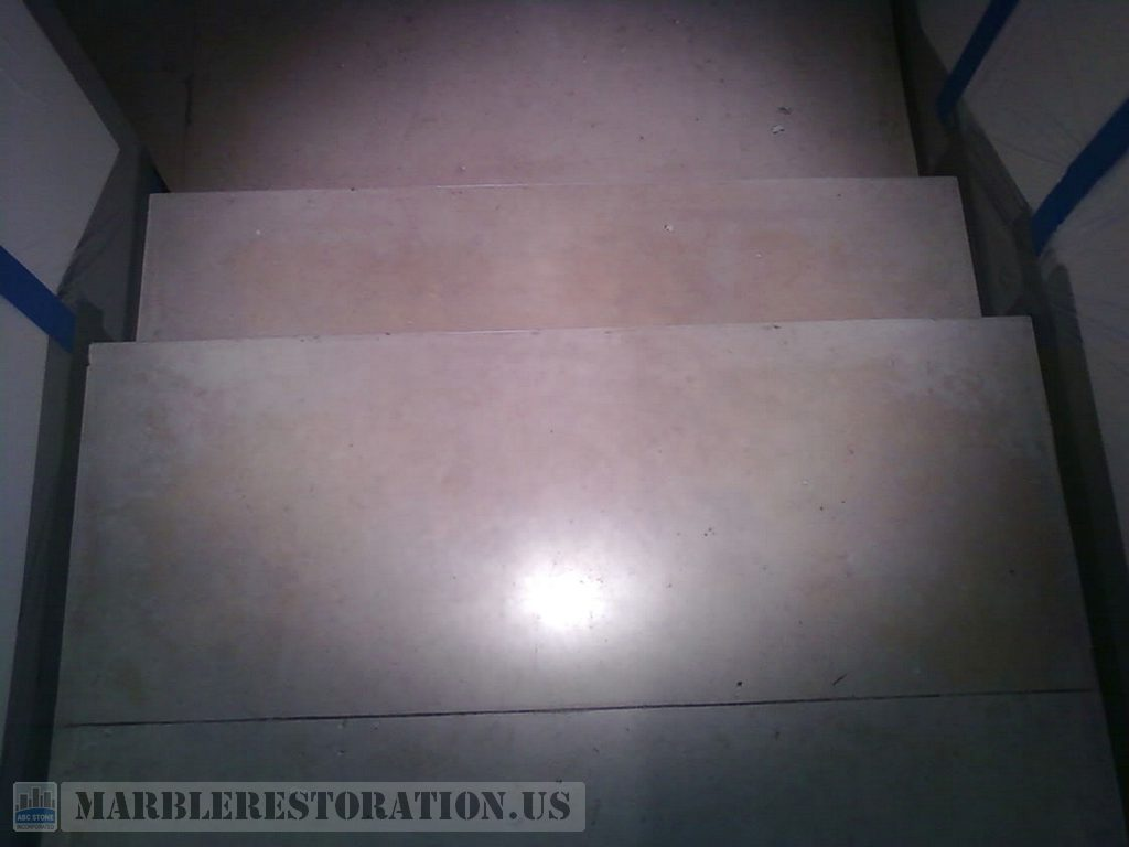 Limestone Steps Cleaning