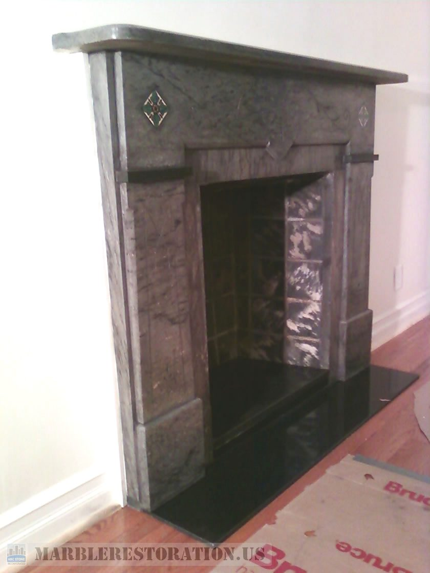 Marble Fireplace Cleaning and Polishing