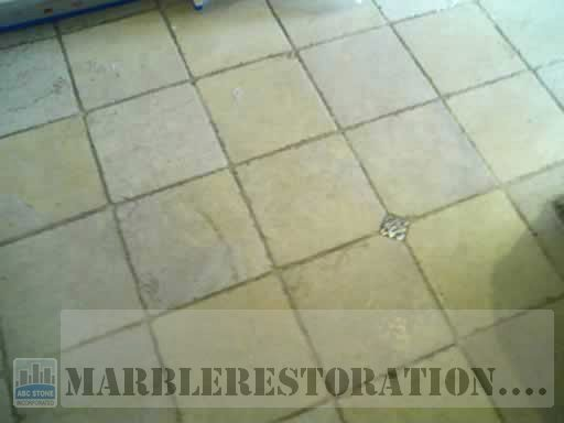 Marble Grout Floor Cleaning. Before
