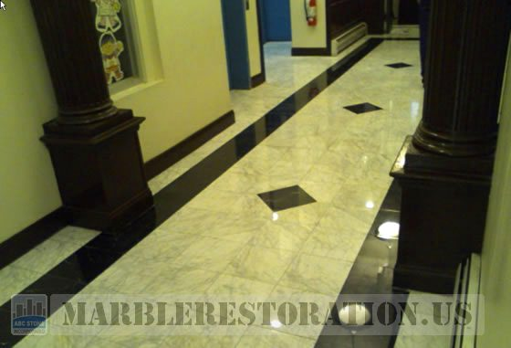 Polished Marble in Lobby