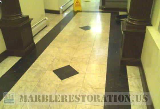 Marble Lobby. Image. Stone Repair. NYC