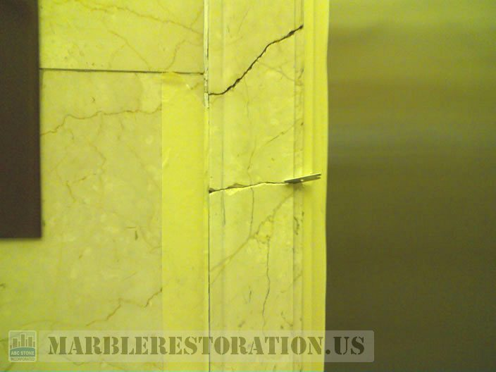 Molding Cracks in Elevator Door Frame