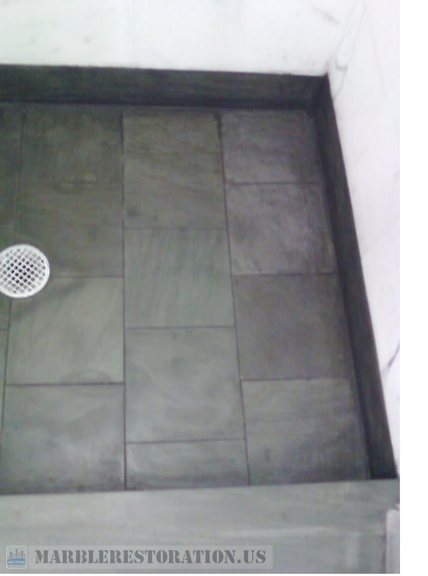 Salt Deposits in Shower Floor