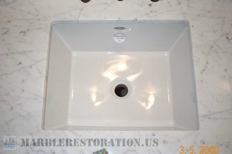 Rectangular Ceramic Sink Installation