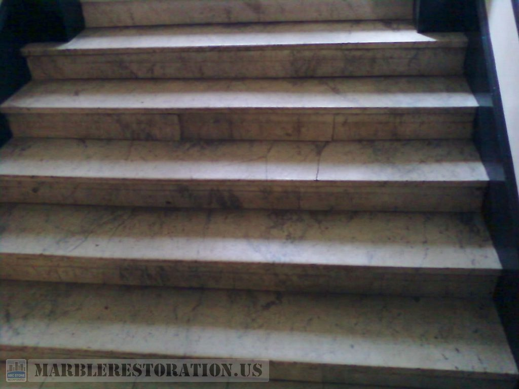White Carrara Staircase