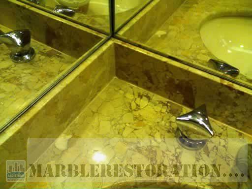 Re Caulked Marble Vanity