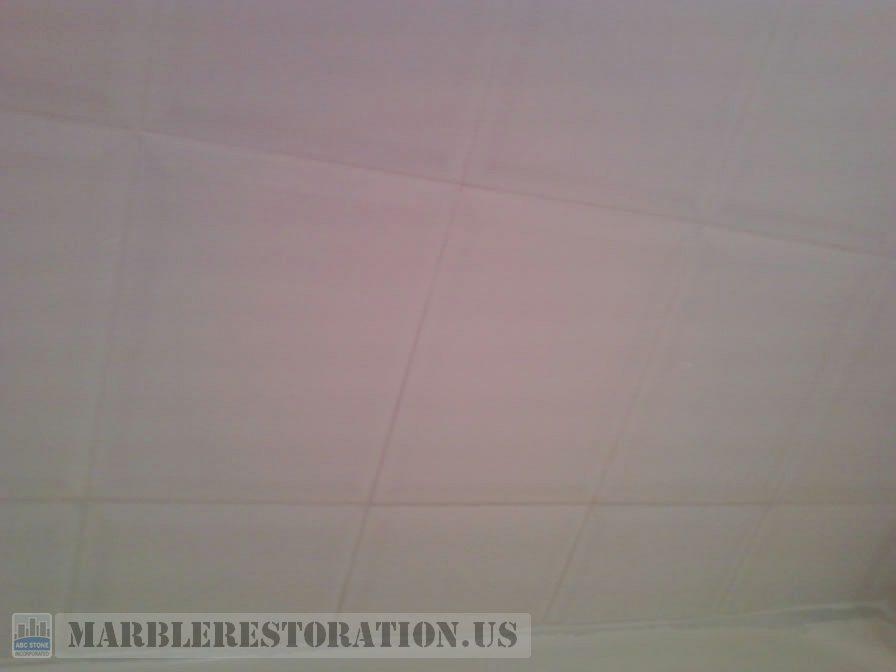 White Grout on Ceramic Tiles