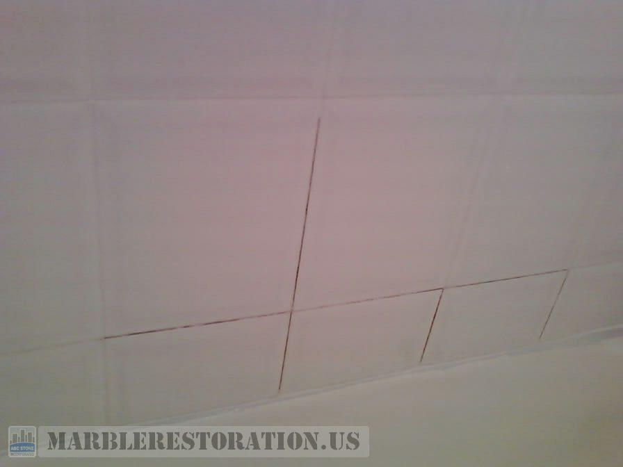 White Ceramic Tiles Before Grouting