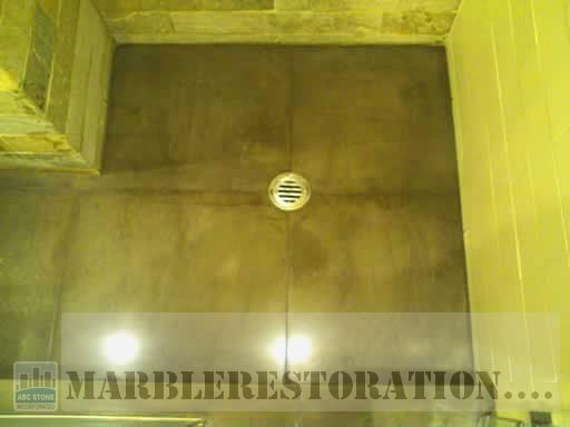 Restored Marble in Shower Floor