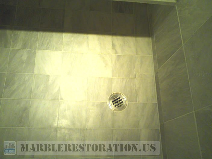 Shower Floor Build Up After Removal