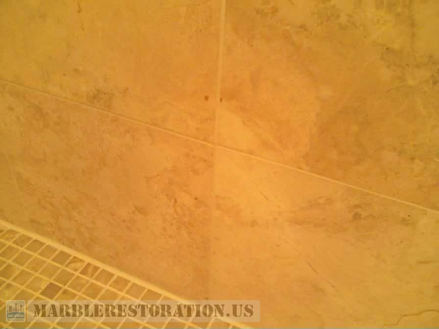 Shower Tiles Installed Back To Wall