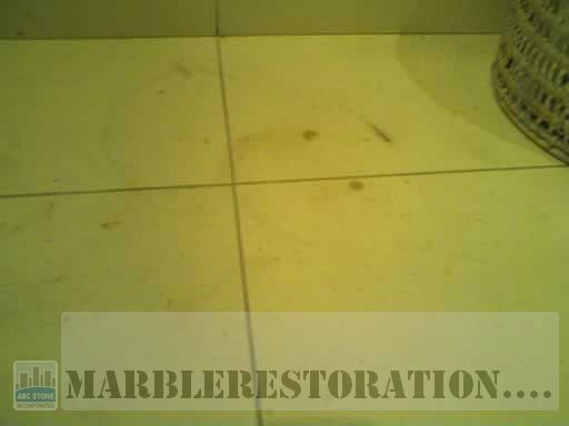 Hair-dye Stains Removal from Limestone Tiles