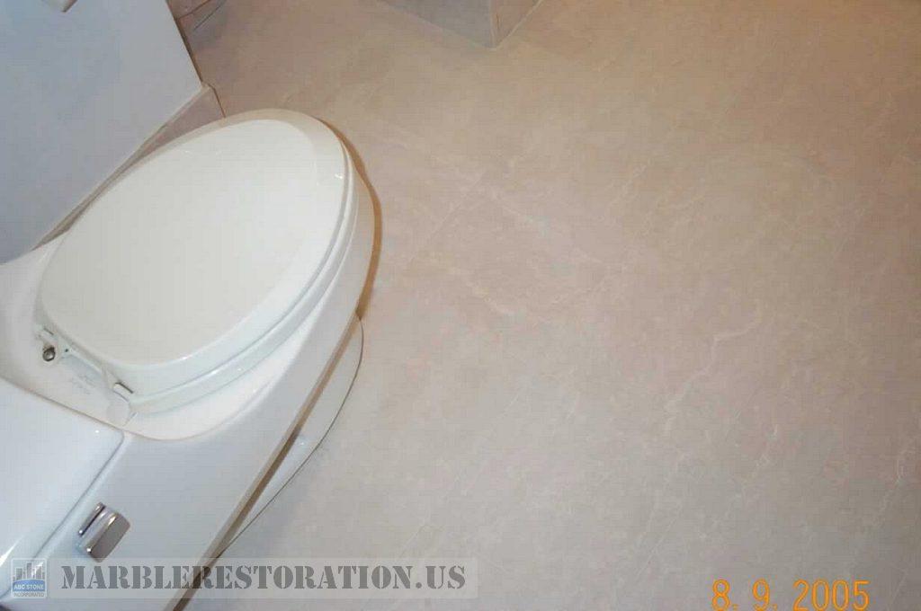 Botticino Tiles in Bathroom. After Restoration