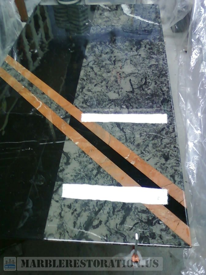 Dining Marble Table Repair and Laminating