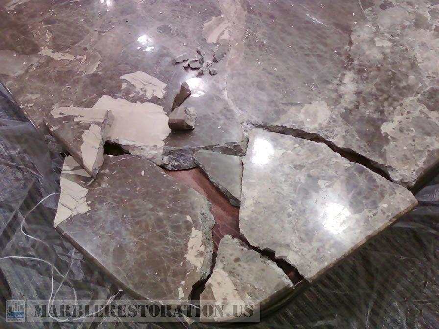 Conference Room Table Crashed Corner