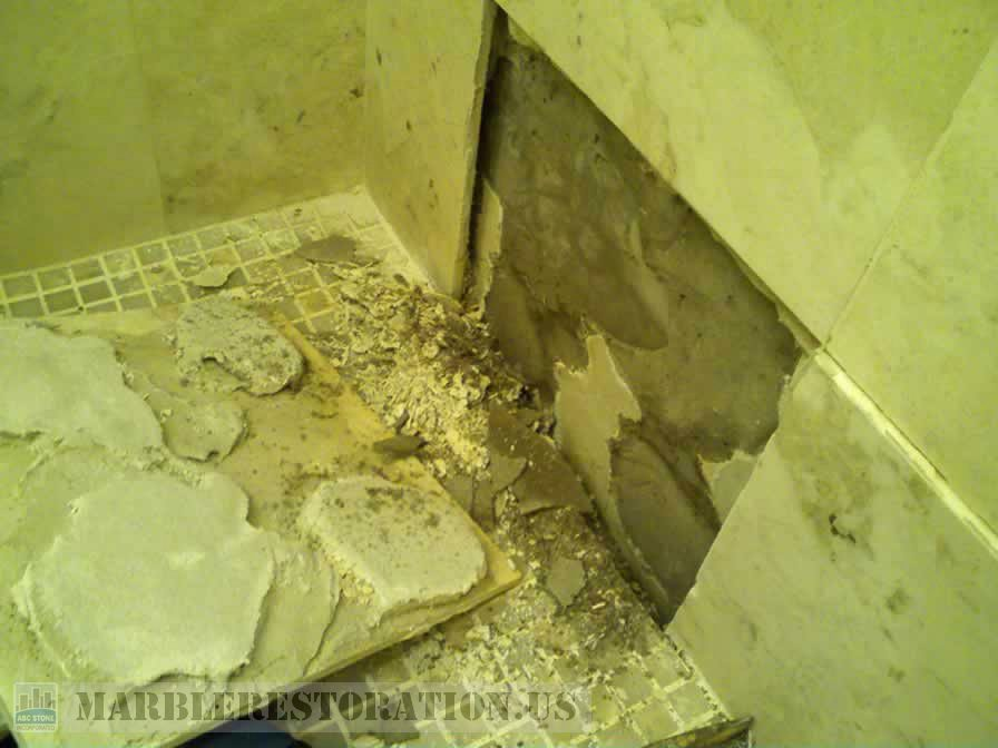 Shower Tile Removal and Resetting