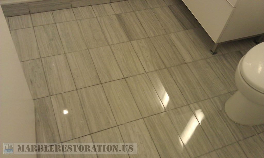 Gray marble floor restoration in bathroom for Floor tiles images